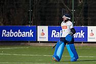BILTHOVEN -  Hoofdklasse competitiewedstrijd dames, SCHC v hdm, seizoen 2020-2021.<br /> Foto: Keeper Julia Remmerswaal (hdm)