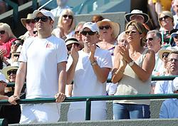 July 11, 2018 - Angleterre - Wimbledon - Clan Roger Federer Suisse Mirka Federer (Credit Image: © Panoramic via ZUMA Press)