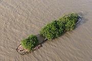 Sunken boat<br /> Near Georgetown<br /> GUYANA<br /> South America