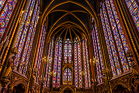 The Sainte-Chapelle is a royal chapel in the Gothic style, within the medieval Palais de la Cité, the residence of the Kings of France until the 14th century, on the Île de la Cité in the River Seine in Paris, France.