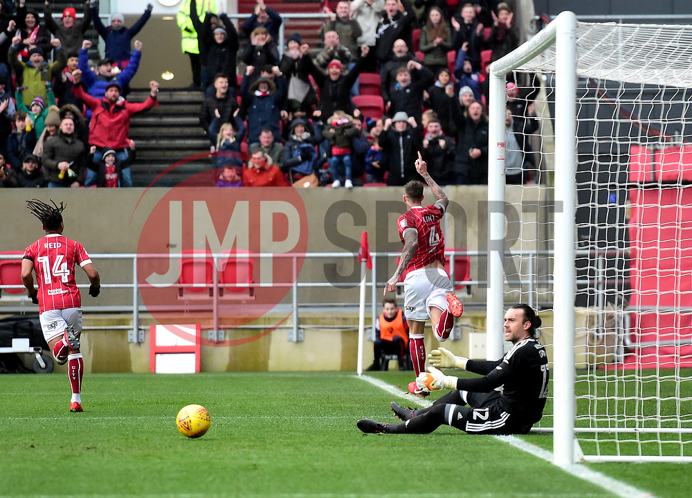 Aden Flint of Bristol City celebrates   - Mandatory by-line: Joe Meredith/JMP - 10/02/2018 - FOOTBALL - Ashton Gate Stadium - Bristol, England - Bristol City v Sunderland - Sky Bet Championship