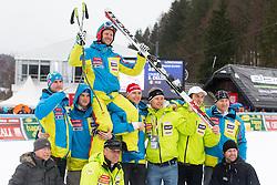 Farewell of Andrej Jerman before the 2nd Run of Men's Slalom - Pokal Vitranc 2013 of FIS Alpine Ski World Cup 2012/2013, on March 10, 2013 in Vitranc, Kranjska Gora, Slovenia.  (Photo By Matic Klansek Velej / Sportida.com)