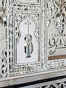 Mirrored inlays in the Jai Mandir, or Sheesh Mahal, of the Amber Palace, Amer, Rajasthan.