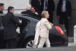 Hillary Clinton attends the 58th Presidential Inauguration. Trump being sworn in as the 45th president of the United States. January 20, 2017 in Washington, DC. Photo by Lionel Hahn/ABACAPRESS.COM