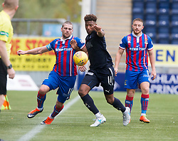 Inverness Caledonian Thistle's Iain Vigurs and Falkirk's Myles Hippolyte. Falkirk 0 v 0 Inverness Caledonian Thistle, Scottish Championship game played 14/10/2017 at The Falkirk Stadium.