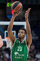 Unicaja Jeff Brooks during Turkish Airlines Euroleague match between Real Madrid and Unicaja at Wizink Center in Madrid, Spain. November 16, 2017. (ALTERPHOTOS/Borja B.Hojas)