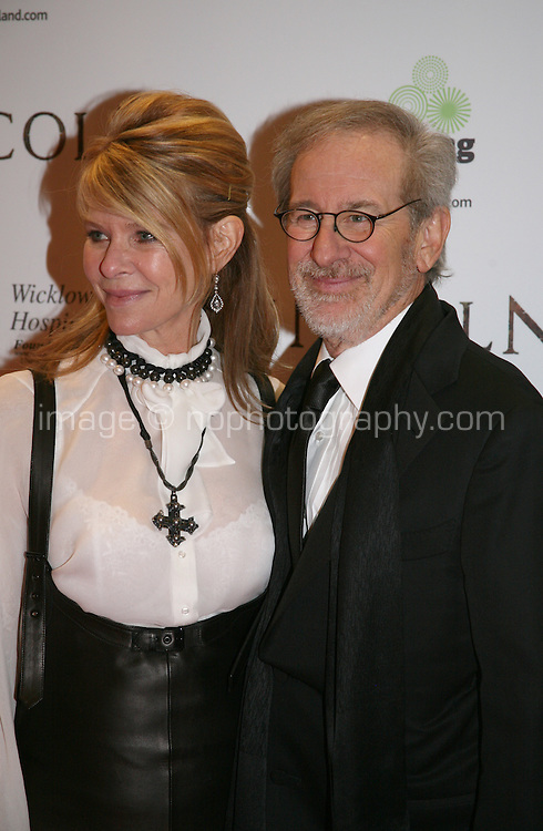 Kate Capshaw, Steven Spielberg at the Lincoln film premiere Savoy Cinema in Dublin, Ireland. Sunday 20th January 2013.
