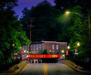 Iconic Ellicott City, Maryland Railroad Bridge on Main Street.