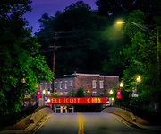 Iconic Ellicott City, Maryland Railroad Bridge on Main Street.