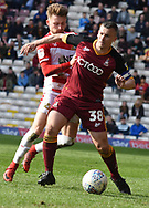 Paul Caddis contests the ball during the EFL Sky Bet League 1 match between Bradford City and Doncaster Rovers at the Northern Commercials Stadium, Bradford, England on 6 April 2019.