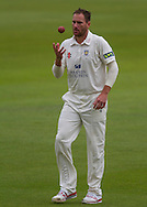 John Hastings (Durham County Cricket Club) prepares to bowl during the LV County Championship Div 1 match between Durham County Cricket Club and Hampshire County Cricket Club at the Emirates Durham ICG Ground, Chester-le-Street, United Kingdom on 2 September 2015. Photo by George Ledger.