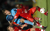 Picture: Henry Browne.Digitalsport<br /> Date: 24/08/2004.<br /> Wycombe Wanderers v Bristol City Carling Cup First Round.<br /> <br /> Leroy Lita of City holds off Wycombe's Roger Johnson.