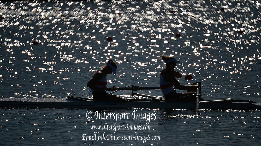 Eton Dorney, Windsor, Great Britain,..2012 London Olympic Regatta, Dorney Lake. Eton Rowing Centre, Berkshire[ Rowing]...Description; Women's pair Repechage General views   Dorney Lake. 09:23:47  Monday  30/07/2012 [Mandatory Credit: Peter Spurrier/Intersport Images]  .