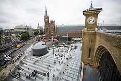 © licensed to London News Pictures. London, UK 26/09/2013. King's Cross Square officially opens and becomes London's newest public space on Thursday, 26 September, 2013. Photo credit: Tolga Akmen/LNP