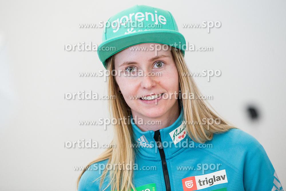 Katja Pozun during press conference of Slovenian Nordic Ski team before new season 2017/18, on November 14, 2017 in Gorenje, Ljubljana - Crnuce, Slovenia. Photo by Vid Ponikvar / Sportida