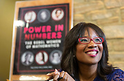 """Keynote speak and author of """"Power in Numbers"""" Talithia Williams at the DDEEA Diversity Forum. (Photo © Andy Manis)"""