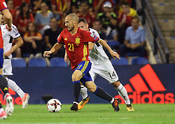 David Silva, Spain in action during the World Cup qualification match between Spain vs Albania in Alicante, Spain, on October 06, 2017. Photo by Giuliano Bevilacqua/ABACAPRESS.COM