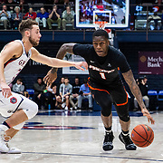 Feb 07 2019 Moraga CA, U.S.A.  Pacific guard Lafayette Dorsey (1) drives to the basket during the NCAA Men's Basketball game between Pacific Tigers and the Saint Mary's Gaels 66-78 lost at McKeon Pavilion Moraga Calif. Thurman James / CSM