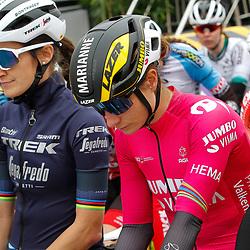 04-04-2021: Wielrennen: Ronde van Vlaanderen (Vrouwen): Oudenaarde<br />Marianne Vos; Lizzy Deignan