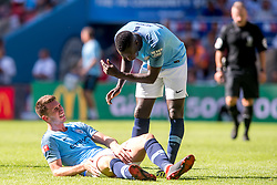 August 5, 2018 - Phil Foden of Manchester City lies injured in pain during the 2018 FA Community Shield match between Chelsea and Manchester City at Wembley Stadium, London, England on 5 August 2018. (Credit Image: © AFP7 via ZUMA Wire)