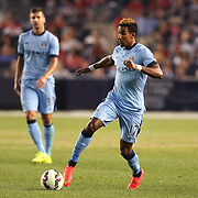 Scott Sinclair, Manchester City, in action during the Manchester City Vs Liverpool FC Guinness International Champions Cup match at Yankee Stadium, The Bronx, New York, USA. 30th July 2014. Photo Tim Clayton