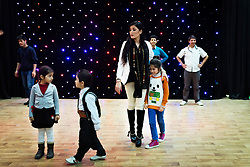 © Licensed to London News Pictures. 18/03/2014. ERBIL,  Kurdish singer Helen Abdulla - better known as Helly Luv - has suffered death threats from Islamic groups in Iraqi Kurdistan for her provocative, revolution-tinged music videos. Picture shows: Kurdish pop singer Helly Luv (Hillan Abdullah) during rehearsals before her performance in the Iraqi Kurdish city of Erbil. Photo credit : Jacob Russell/LNP
