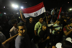 August 6, 2017 - Gaza City, Gaza Strip, Palestinian Territory - Palestinian demonstrators take part in protest to show their solidarity with Egyptian people, in Gaza City, on August 5, 2017  (Credit Image: © Mohammed Asad/APA Images via ZUMA Wire)