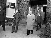 15th October 1952<br /> <br /> P.J. Carroll and Co. Ltd tobacco factory, Dundalk. Visit of Sean MacEntee, Minister for Finance, to the Factory.