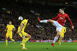 16th March 2017 - UEFA Europa League - Round of 16 - Manchester United v FK Rostov - Zlatan Ibrahimovic of Man Utd tries another acrobatic effort - Photo: Simon Stacpoole / Offside.