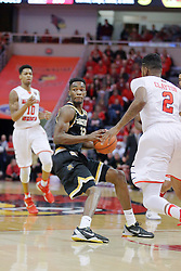 14 January 2017:  Markis McDuffie during an NCAA  MVC (Missouri Valley conference) mens basketball game between the Wichita State Shockers the Illinois State Redbirds in  Redbird Arena, Normal IL