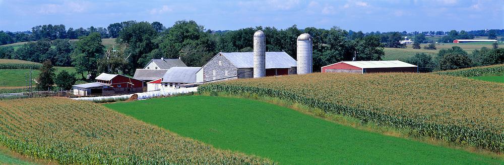 A tidy farm in rural Gortner, in western Maryland.