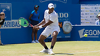Tennis - 2017 Aegon Championships [Queen's Club Championship] - Day Three, Wednesday<br /> <br /> Men's Singles, Round of 16 -Viktor TROICKI (SRB) Vs Donald YOUNG (USA)<br /> <br /> Donald Young (USA) in action on the centre court at Queens Club<br /> <br /> <br /> COLORSPORT/DANIEL BEARHAM