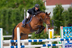 Lenaerts Ils, (BEL), Kycolette<br /> Nationale finale SBB competitie voor jonge paarden <br /> 6 jarige springpaarden - Moorsele 2016<br /> © Hippo Foto - Dirk Caremans<br /> 26/06/16