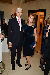 "PRINCE NICHOLAS VON PREUSSEN and SARAH MACMILLAN at an ""Evening With Damon Hill'  a dinner and talk in aid of the Downs Syndrome Association held at Claridge's, Brook Street, London on 7th November 2013."