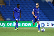 Joe Ralls of Cardiff City (8)  in action. EFL Skybet championship match, Cardiff city v Sheffield Utd at the Cardiff City Stadium in Cardiff, South Wales on Tuesday 15th August 2017.<br /> pic by Andrew Orchard, Andrew Orchard sports photography.