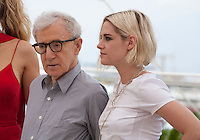 Director Woody Allen and Actress Kristen Stewart at the Café Society film photo call at the 69th Cannes Film Festival Wednesday 11th May 2016, Cannes, France. Photography: Doreen Kennedy