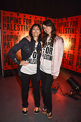 """Karma Nabulsi and Bella Freud at """"Hoping For Palestine"""" Benefit Concert For Palestinian Refugee Children held at The Roundhouse, Chalk Farm Road, England. 04 June 2018. <br /> Photo by Dominic O'Neill/SilverHub 0203 174 1069/ 07711972644 - Editors@silverhubmedia.com"""