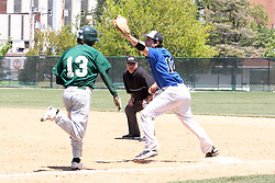11 May 2013:   during an NCAA division 3 College Conference of Illinois and Wisconsin (CCIW) Pay in Baseball game during the Conference Championship series between the North Park Vikings and the Illinois Wesleyan Titans at Jack Horenberger Stadium, Bloomington IL