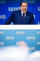 Bari, Italy - Apr. 13, 2013 - Silvio Berlusconi, leader of centre-right 'People of Freedom' party (PDL), speaks during an event of the party in Bari, Italy, 13 April 2013. Italy has been in a political deadlock since the country's general election in February, during which the Democratic Party secured more seats in Italy's parliament than Berlusconi's center-right People of Freedom party, but did not win a working majority. Photo Giovanni Marino/Invision