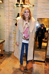 CAGGIE DUNLOP at a party to celebrate the opening of the new UGG Australia Flagship store at 5-7 Brompton Road, London on 2nd November 2011.