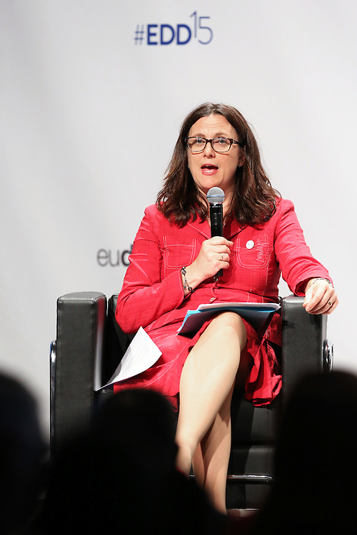 03 June 2015 - Belgium - Brussels - European Development Days - EDD - Trade - Trade for inclusive and sustainable growth - Cecilia Malmstrom , EU Commissioner for Trade © European Union