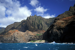 Na Pali Cliffs on the north side of the island.