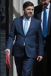 Work and Pensions Secretary Stephen Crabb leaves Prime Minister David Cameron's final cabinet meeting following Theresa May's anticipated takeover as Leader of the Conservative Party and Prime Minister on Wednesday 13th July 2016.