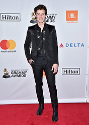 Shawn Mendes attends the Clive Davis and Recording Academy Pre-GRAMMY Gala and GRAMMY Salute to Industry Icons Honoring Jay-Z on January 27, 2018 in New York City.. Photo by Lionel Hahn/ABACAPRESS.COM
