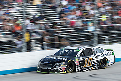 October 7, 2018 - Dover, DE, U.S. - DOVER, DE - OCTOBER 07: Aric Almirola driver of the #10 Smithfield Ford finish in 13th, after leading 64 laps, late in the race during the Gander Outdoors 400 on October 07, 2018, at Dover International Speedway in Dover, DE. (Photo by David Hahn/Icon Sportswire) (Credit Image: © David Hahn/Icon SMI via ZUMA Press)