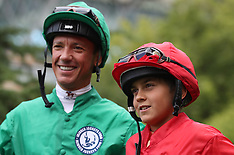Frank Dettori and son at Ascot Racecourse - 31 July 2017
