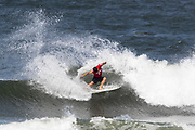 Aritz Aranburu of Spain advances to round two after placing second in round one heat 8 of the 2018 Hawaiian Pro at Haleiwa, Oahu, Hawaii, USA.