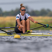 Emma Twigg , New Zealand elite Womens Single Scull<br /> <br /> Racing the heats at FISA World Rowing Cup III on Friday 12 July 2019 at the Willem Alexander Baan,  Zevenhuizen, Rotterdam, Netherlands. © Copyright photo Steve McArthur / www.photosport.nz