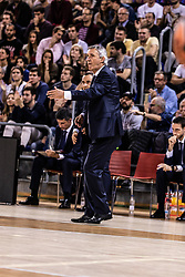 November 1, 2018 - Barcelona, Barcelona, Spain - Svetislav Pesic, Head coach of FC Barcelona Lassa in actions during EuroLeague match between FC Barcelona Lassa and Maccabi Fox Tel Aviv  on November 01, 2018 at Palau Blaugrana, in Barcelona, Spain. (Credit Image: © AFP7 via ZUMA Wire)