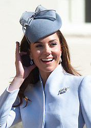 Catherine, Duchess of Cambridge attends the Easter Day Service at St.George's Chapel in Windsor
